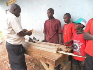 SNU Students Learning the Carpentry Trade